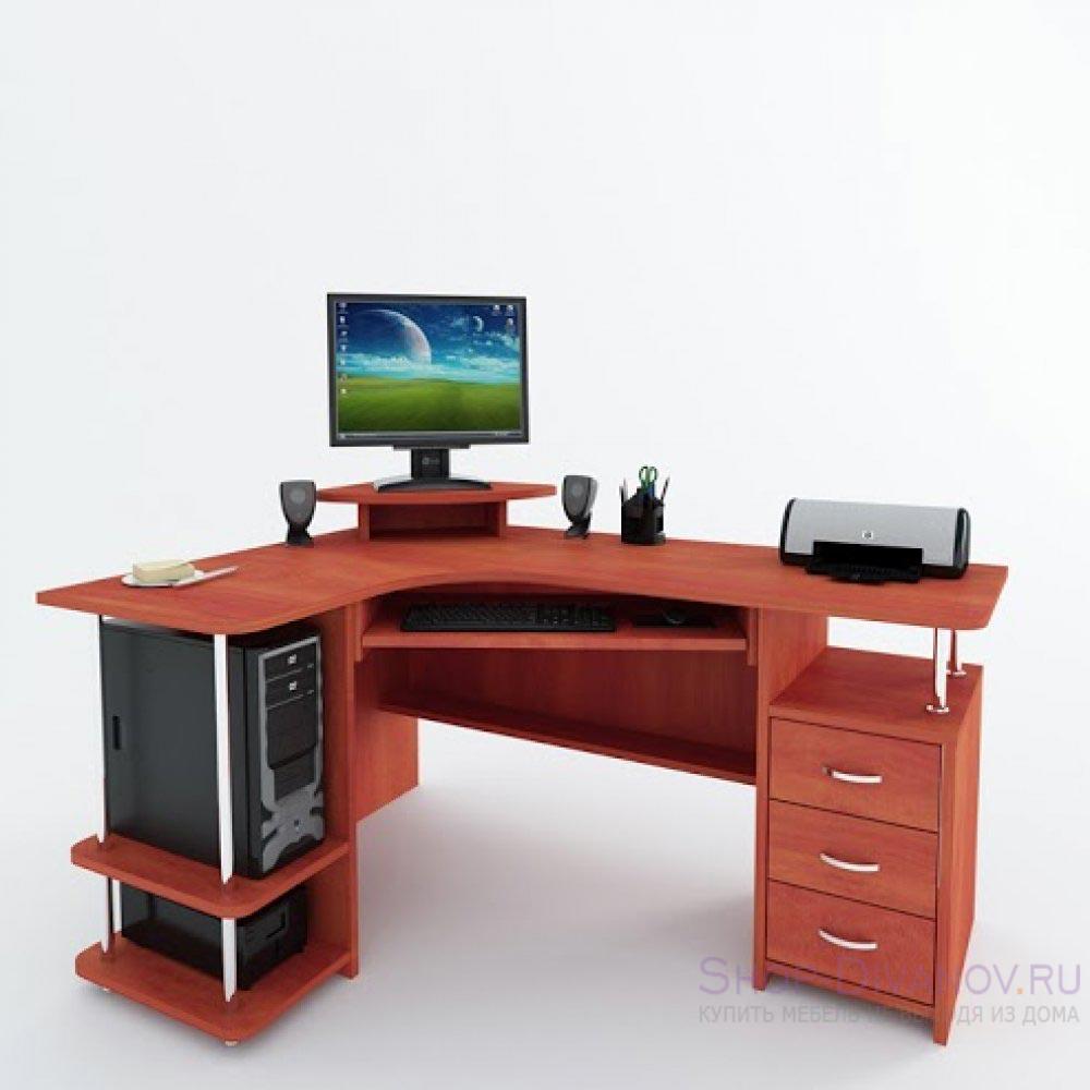 Угловой компьютерный стол с 224 бн - кремез.