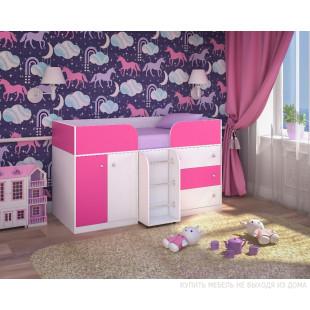 Малыш-4 белое дерево и розовый