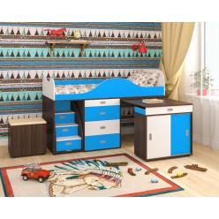 Малыш люкс бодего, голубой и белое дерево