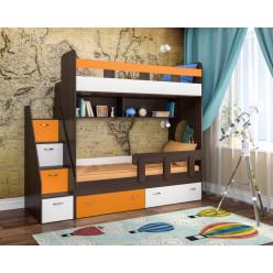 Юниор-1 бодего, оранжевый и белое дерево